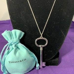 Tiffany and Co. Sterling Silver Oval Key Necklace